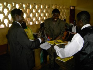 PACE books shared with workshop participants in Cameroon