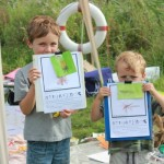 Young artists at Hinksey Heights Nature Park, Oxford Open Doors 2012