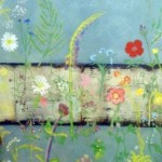 Wildflowers painted by visitors to Sasha's Wildflower Experience stall at a Garden Festival in Herefordshire, 2010