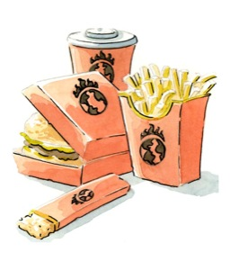 chips and burgers image