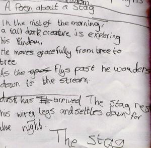 stag poem